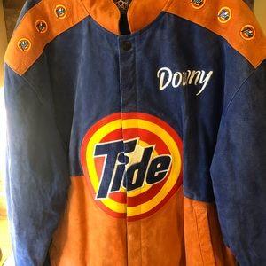 NASCAR Vintage Tide Downy Suede Racing Jacket